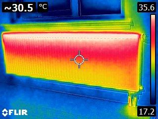 Een goed ingeregelde verwarming. Hierin krijgt het water de tijd om af te koelen.